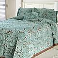 Jessica Slate/ Chocolate Chenille Twin-size Bedspread