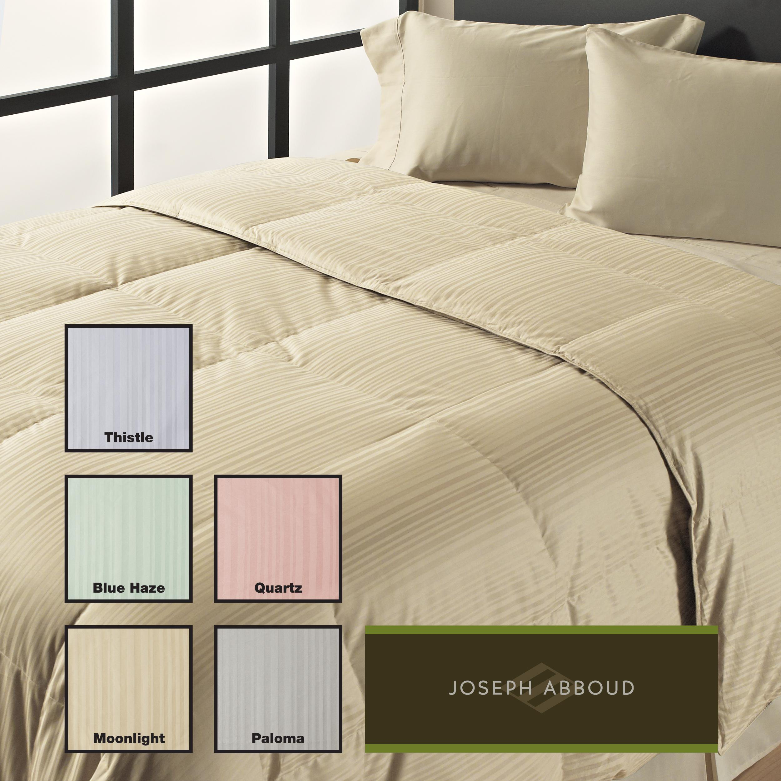 Joseph Abboud Oversized 350 Thread Count Stripe Down Alternative Comforter