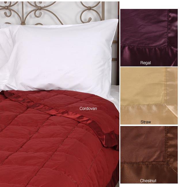 Joseph Abboud Oversized Classic Satin Trim Down Blanket