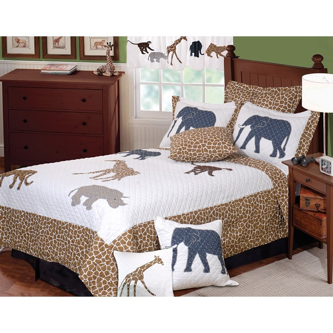 Greenland Home Fashions Jungle Story 3-piece Quilt Set