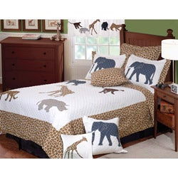 Greenland Home Fashions Jungle Story 3-piece Quilt Set - Thumbnail 0