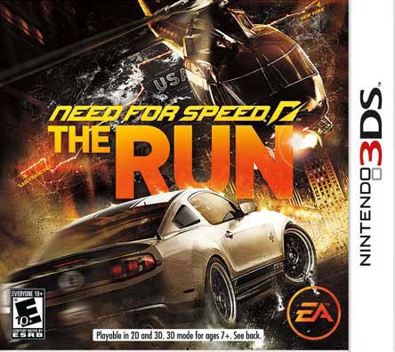 NinDS 3DS - Need For Speed: The Run - By Electronic Arts