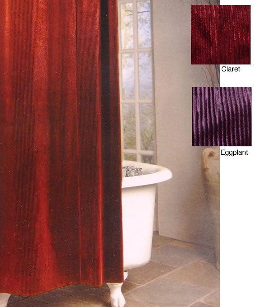 Shop Hawthorne Velvet Stripe Shower Curtain