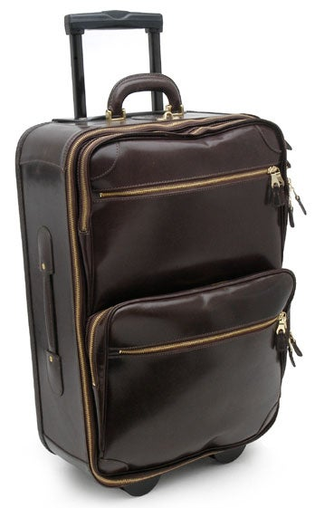 Mulholland Brothers Leather Wheeled Carry-On Bag - Free Shipping ...
