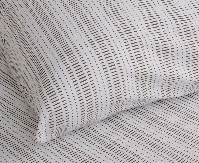 Barcode Brown 200 Thread Count Duvet Cover Set