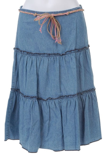 Jolt Girl's Denim Prairie Skirt