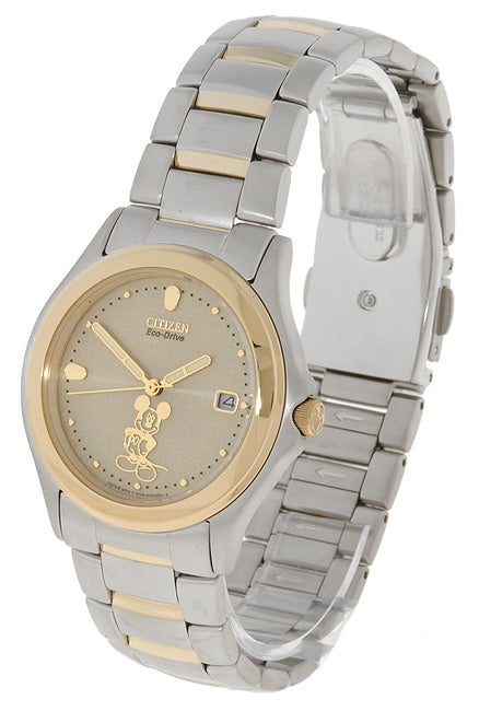 Citizen Men's Eco-Drive Two-tone Mickey Mouse Watch