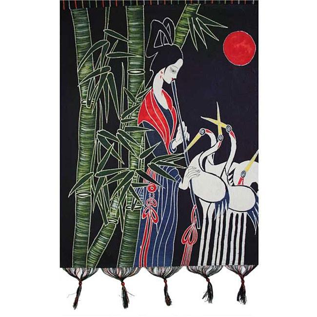 Handmade Crane Dance Tapestry (China)