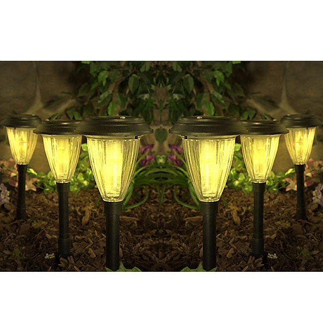 Set Of Six Champagne Amber Solar Lights Free Shipping Today 1659911