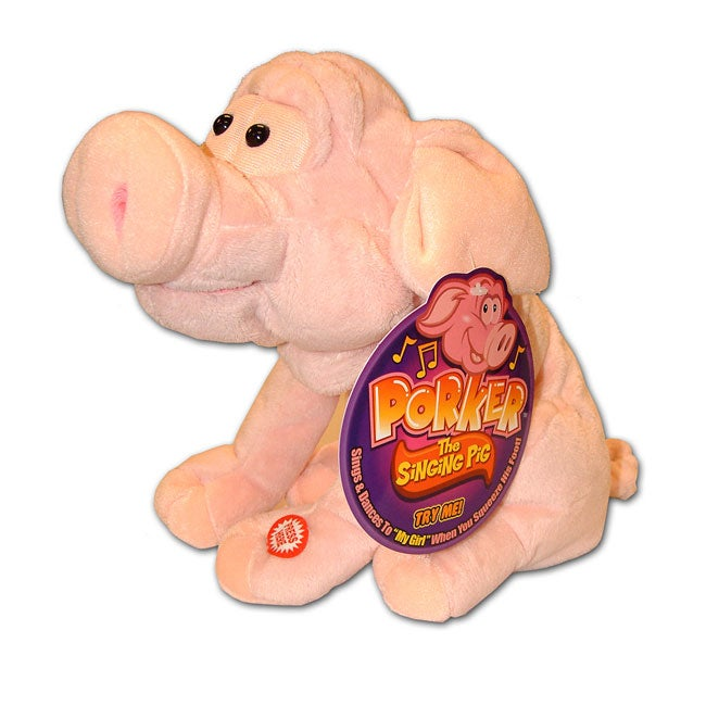Plush Porker The Singing Pig - Free Shipping On Orders -5951