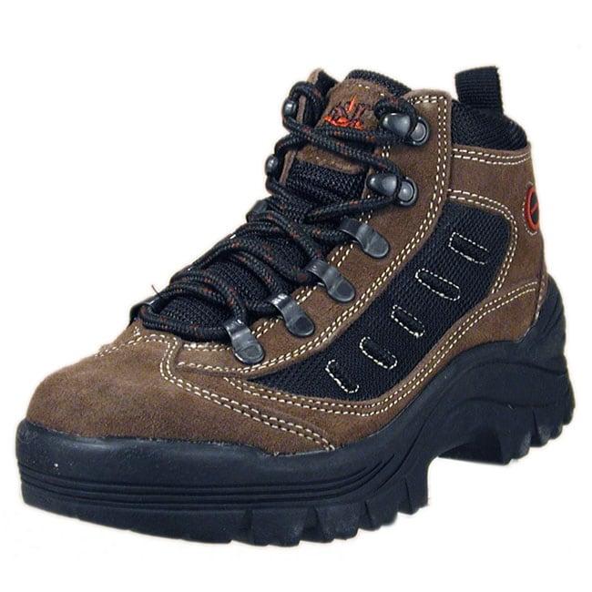 24d61bc7788 Nevados Boy's Greylock Black/Brown Hiking Boots