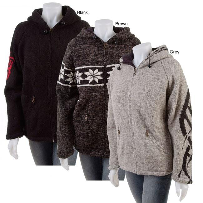 Hand-knitted Wool Sweater Jacket  (Nepal)
