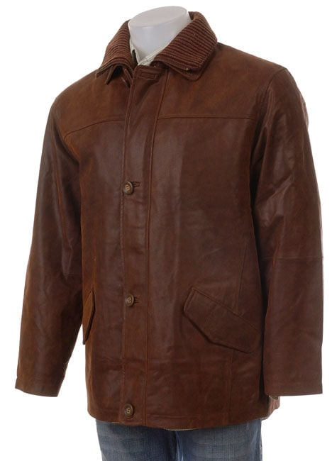 Giovanni Verucci Men S Top Grain Leather Coat Free