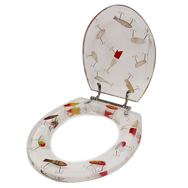 American Standard Toilet Seats >> Clear Acrylic Big Fishing Lures Toilet Seat - Free ...