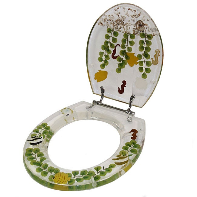 Shop Clear Acrylic Tropical Fish Toilet Seat Free