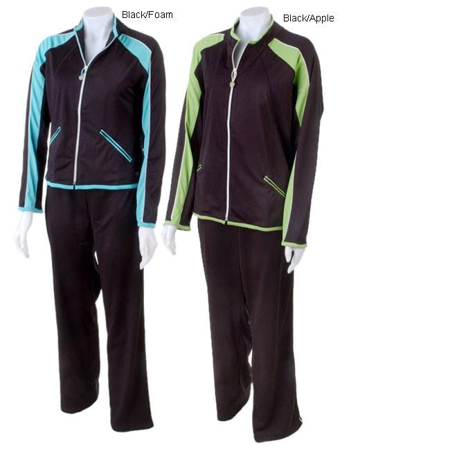 Oleg Cassini Tricot Piping Jog Suit