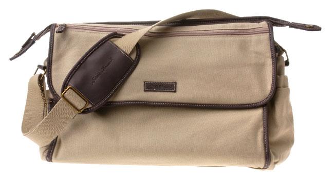 Ed Bauer Canvas Messenger Style Diaper Bag