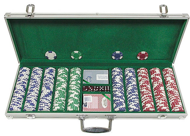 Lucky Crown 500-pc. 11.5g Poker Chip Set