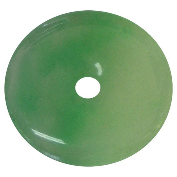 Hand-carved Jade Bi-disc Pendant