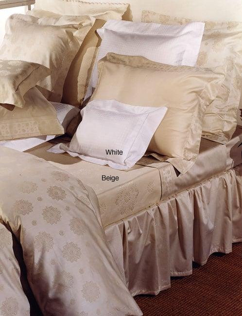 Signoria Di Firenze Gioconda 300 Thread Count Egyptian Cotton Linens (Queen/White Flat Sheet)