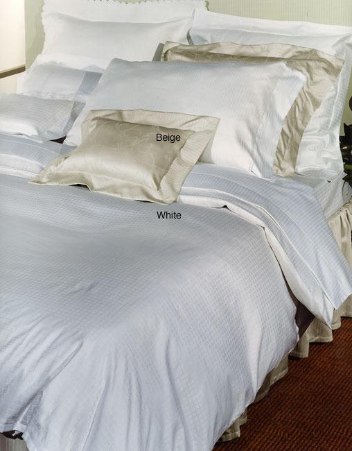 Signoria Di Firenze Palladio 300 Thread Count Egyptian Cotton Linens (Queen/White Fitted Sheet)