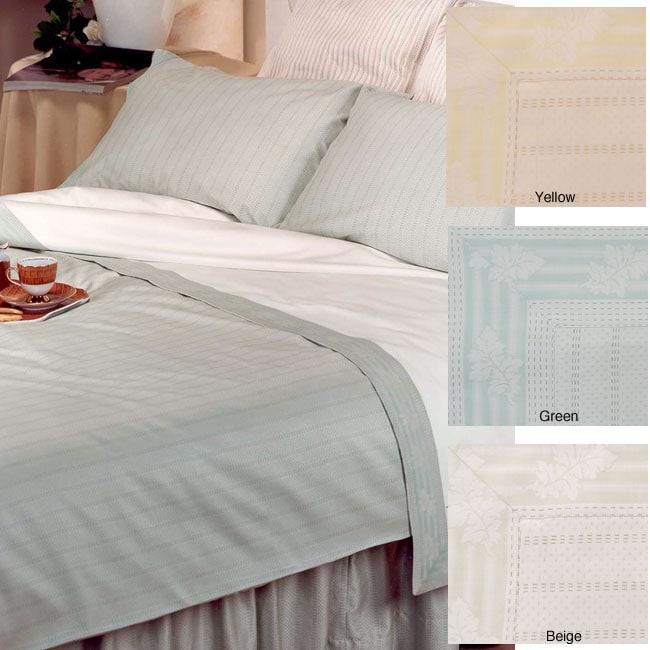 Dea Tamigi 300 Thread Count Egyptian Cotton Linens (Twin/Yellow Bedskirt)