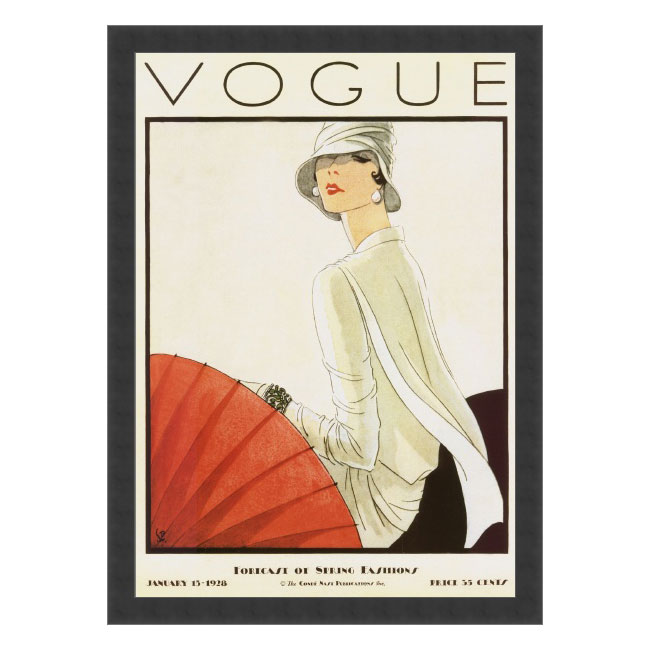 Woodruff Vogue Cover, January 15, 1928 Framed Print