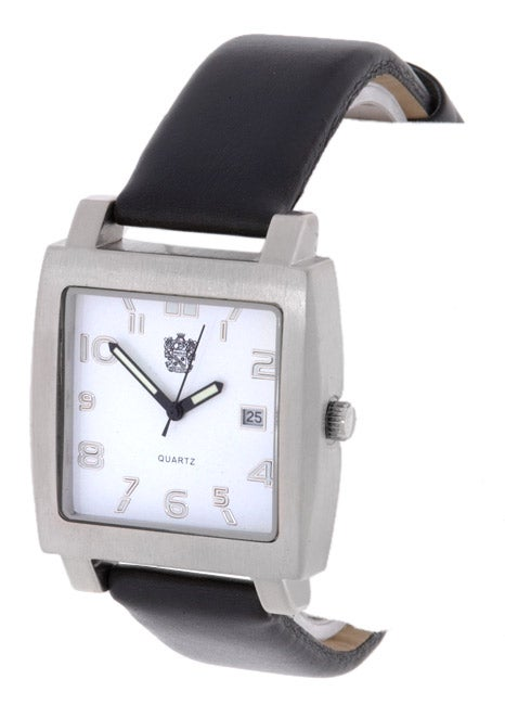 560fefedb3f Shop Paolo Gucci Men s White Dial Square Watch with Black Strap - Free  Shipping On Orders Over  45 - Overstock - 1089312