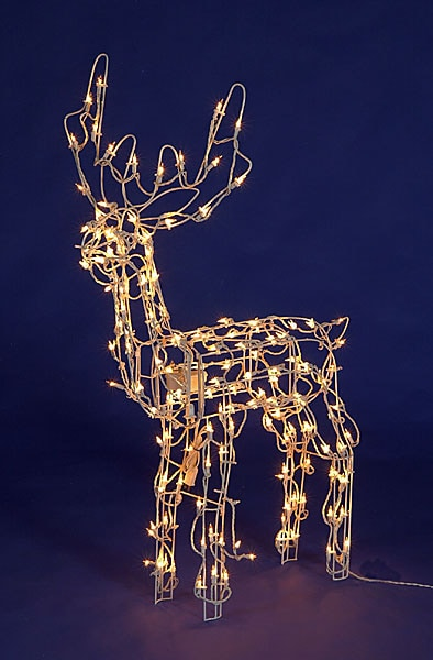 Holiday outdoor lighted reindeer free shipping today