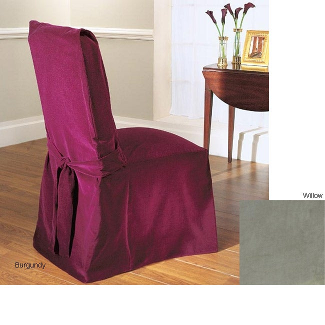 Cotton Velvet Dining Chair Covers (Set Of Four)