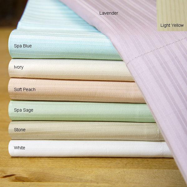 Pinstripe 400 Thread Count Cotton Sheet Set