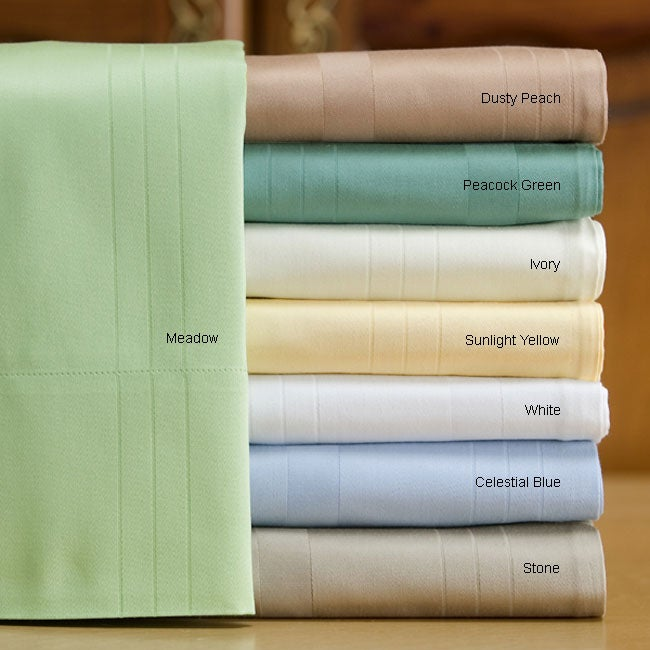 Portofino Damask 600 Thread Count Cotton Sheet Set