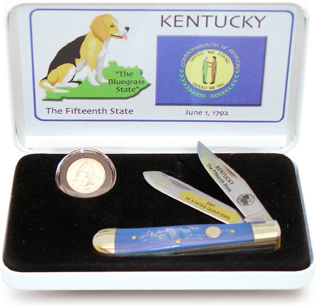 U.S. Mint State Quarter Series Kentucky Knife/Coin Set