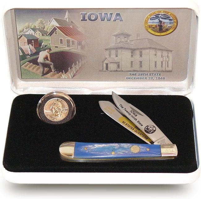 U.S. Mint State Quarter Series Knife/ Coin Set (Iowa)