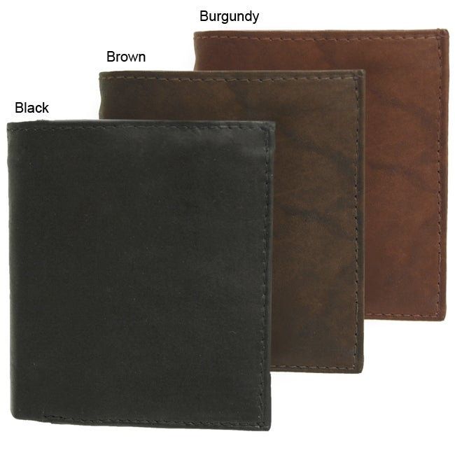Signature Genuine Leather Tri-fold Wallet