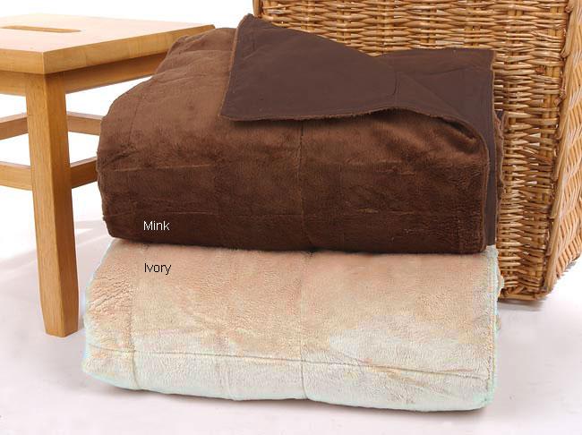Soft and Cozy Micro-Plush Faux Fur Down Throw