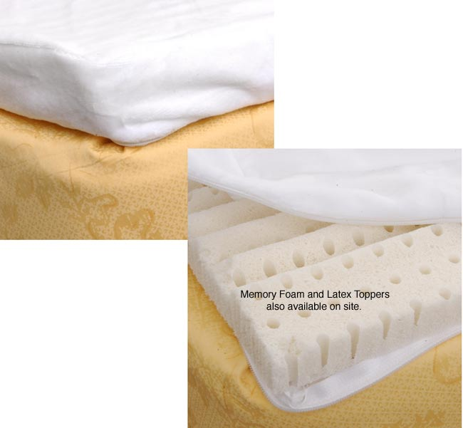 Velour Cover for Memory Foam Toppers