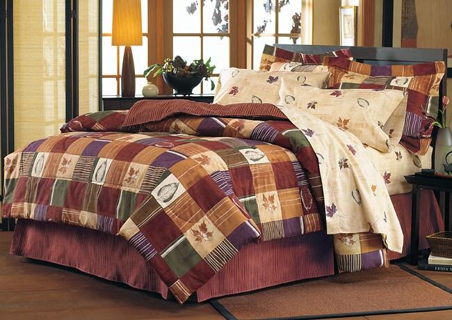 Autumn Harvest Comforter Ensemble with 200 Thread Count Sheet Set