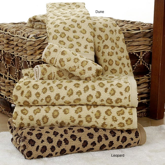 Leopard Print All Cotton 6 Piece Towel Set Free Shipping