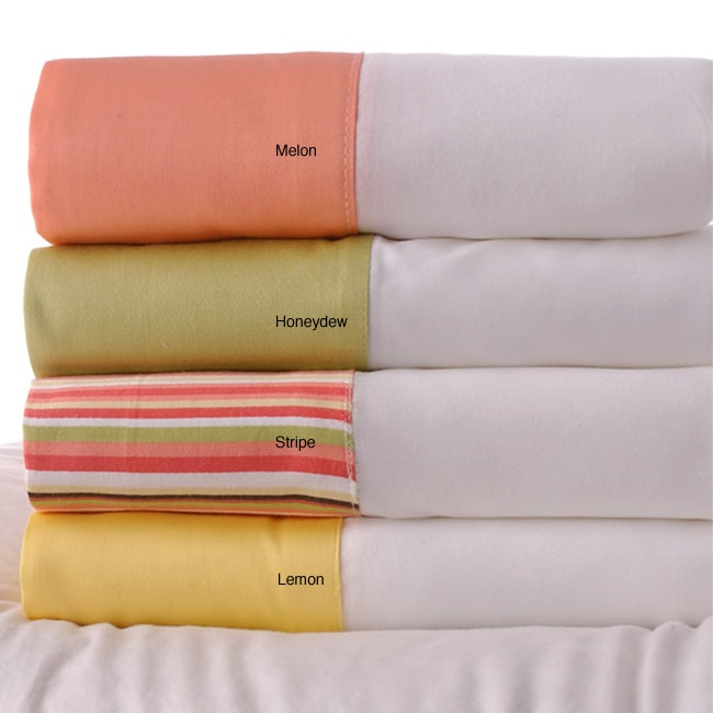 Gelato Attached Hem 250 Thread Count Sheet Set (Twin) - Thumbnail 0