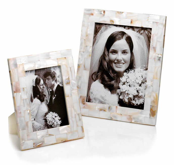 Shop Burnes of Boston 2-piece Mother-of-pearl Wedding Frame Set ...
