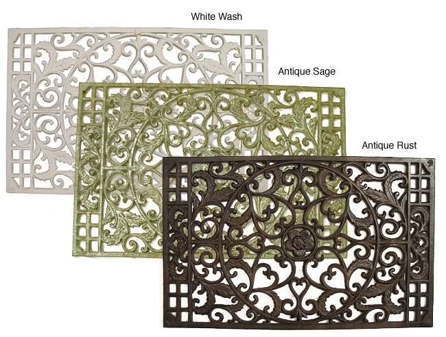 Large Cast Iron Rectangular Door Mat