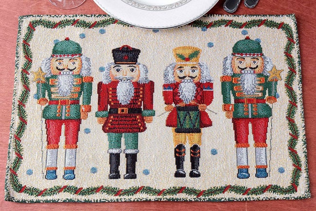 Nutcracker Tapestry 12 Piece Placemat Set Free Shipping