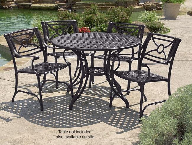 Somerset Cast Aluminum Outdoor Chairs (Set Of 2)