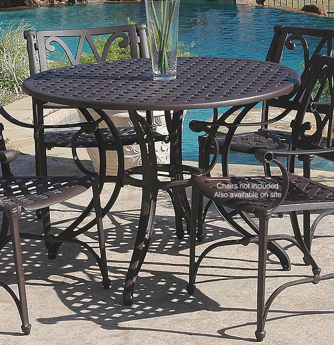 Cool Vista 42 Inch Cast Aluminum Outdoor Table Download Free Architecture Designs Sospemadebymaigaardcom