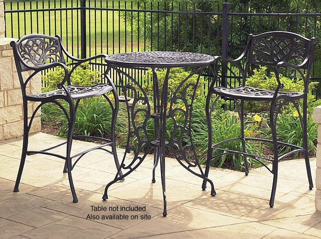 fallbrook cast aluminum outdoor barstools set of 2