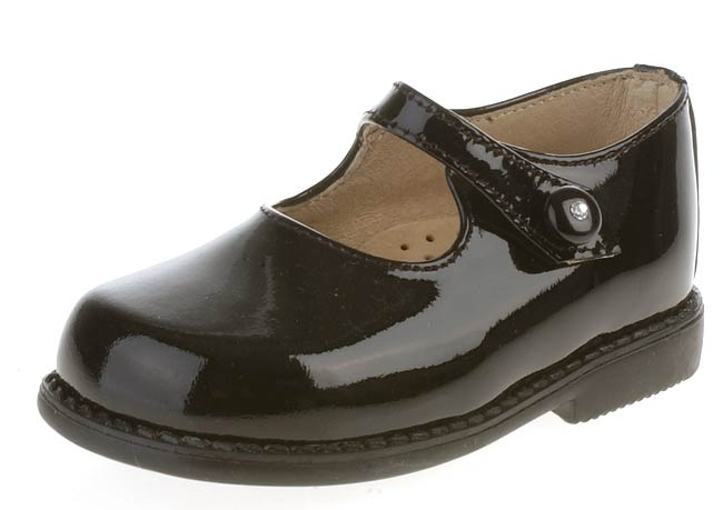 Naturino Girls' Black Patent Leather Mary Jane Shoes