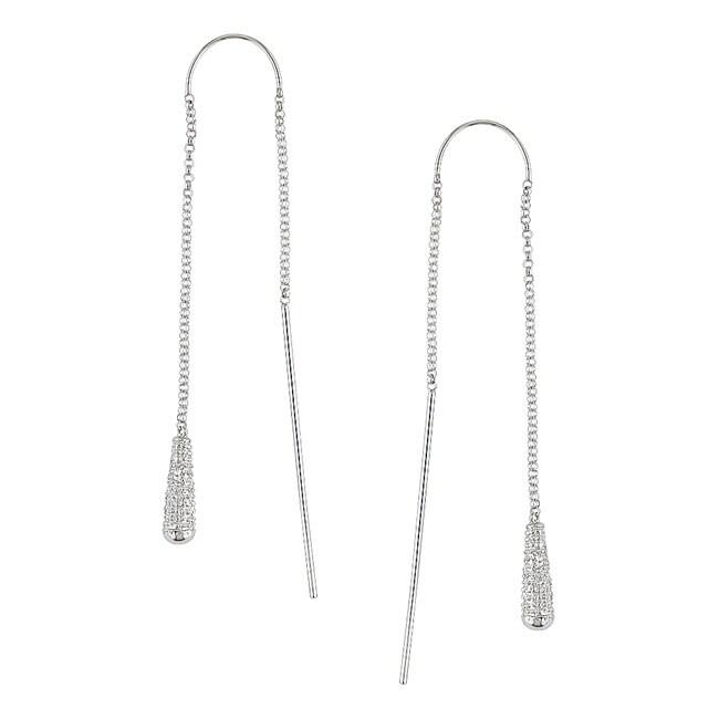 14k White Gold Diamond Threader Earrings Best Earring 2017
