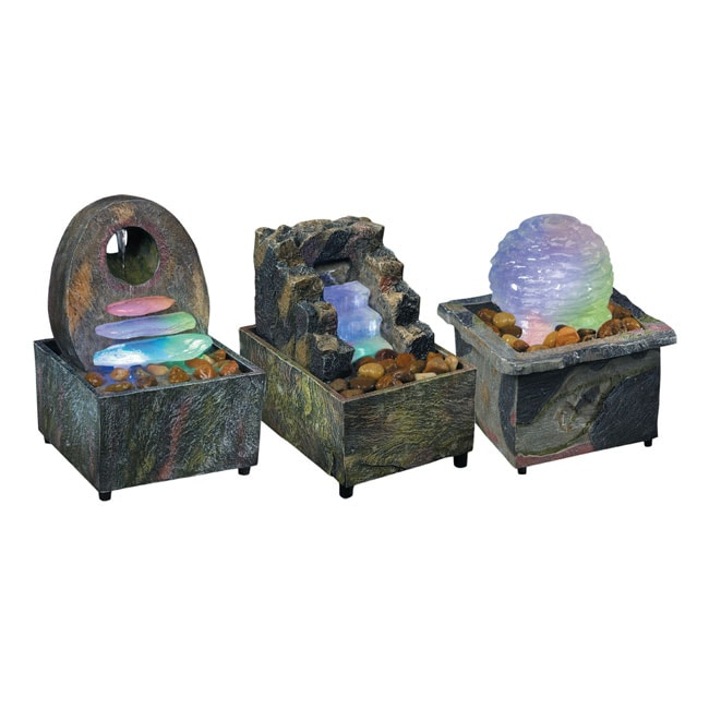 Illuminated Cordless Tranquility Fountain 3 Pack Free