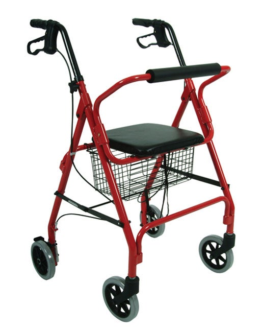 Lightweight Rolling Walker with Seat and Brakes